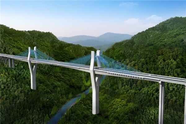 苍南至泰顺高速公路效果图 图源:温州发布